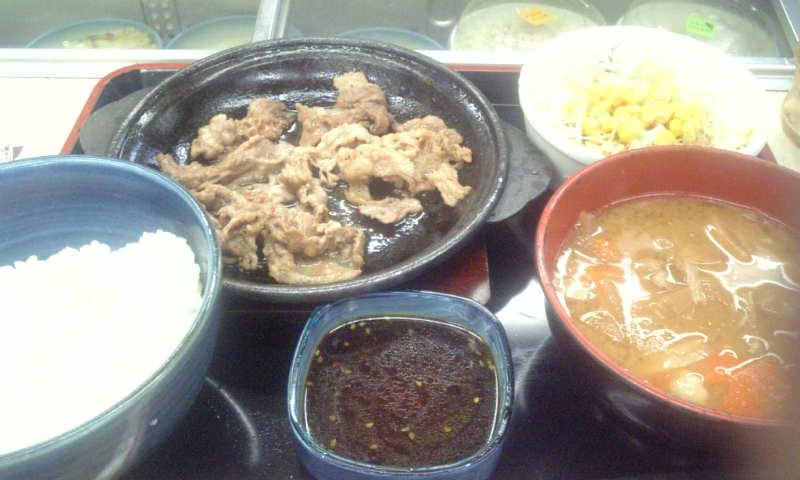 カルビ焼き定食